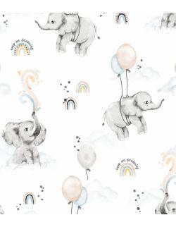 Woreczek na pampersy bieliznę drobiazgi Happy elephant