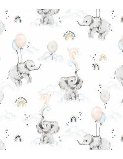 Ochraniacz do łóżeczka Happy elephant