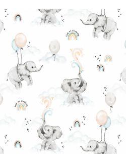Rożek niemowlęcy becik happy elephant