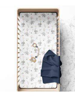 Prześcieradło do łóżeczka Happy elephant 120x60cm