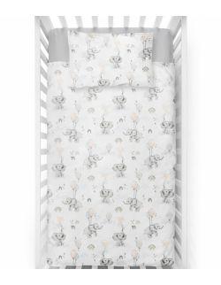 Poduszka velvet-bawełna Happy elephant 2 rozmiary