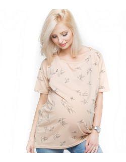 Koszulka ciążowa i do karmienia creamy birds