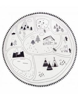 Okrągły dywan góry