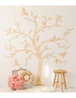 Dekoracja ścienna drzewko z ptaszkami