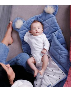 Śpiworek niemowlęcy Dream Catcher Triangles Jeans 6in1 80x45 cm