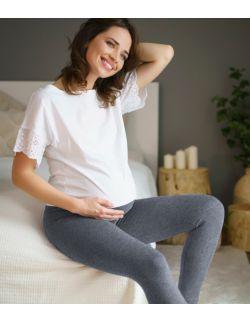 szare legginsy dla kobiet w ciąży