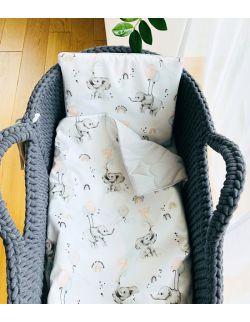 Komplet do wózka/gondoli Happy elephant
