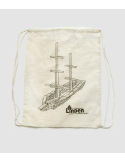 Worek bawełniany klocki Linden ze statkiem