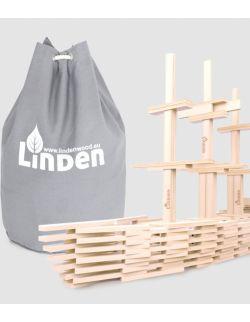 Zestaw 500 szt. drewnianych klocków Linden w worku żeglarskim