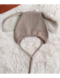 bunny bonnet Beż