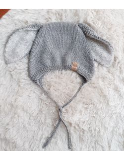 bunny bonnet Jasny szary