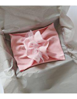 Nauszka   baby pink z tiulem