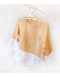 Bluzka dziewczęca z organicznego jerseyu
