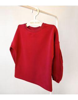 Bordowa bluza z bawełny organicznej