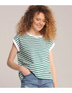 Koszulka do karmienia piersią PASKI green