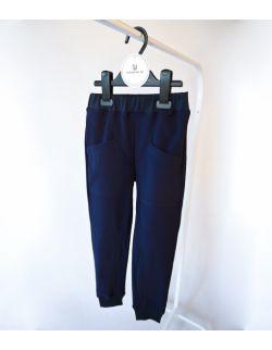 Granatowe spodnie z bawełny organicznej