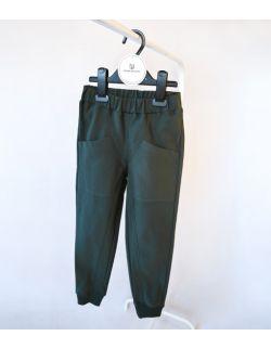 Zielone spodnie z bawełny organicznej