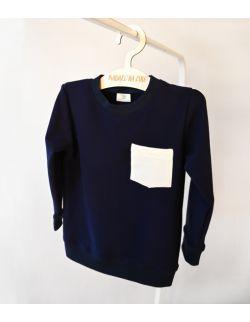 Granatowa bluza z bawełny organicznej