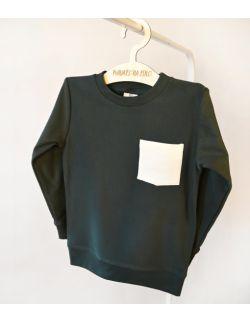 Zielona bluza z bawełny organicznej