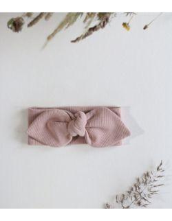 opaska brzoskwiniowy królik z uszami