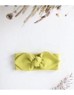 opaska limonkowy królik z uszami