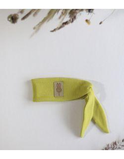 opaska Ninja królika dla chłopca limonkowa