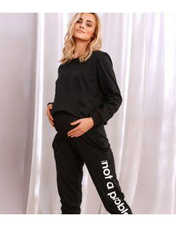 czarne spodnie dresowe dla kobiet w ciąży