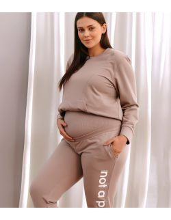 beżowe dresowe spodnie dla kobiet w ciąży