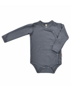szare body niemowlęce z prążkowanej bawełny
