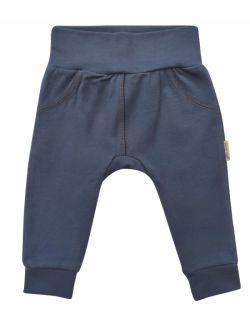 niebieskie spodenki niemowlęce z delikatnej bawełny