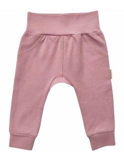 różowe spodenki niemowlęce z delikatnej bawełny