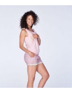 Szorty ciążowe różowe