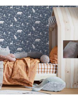 tapeta w rolce forest animals   blue - pastelowe love