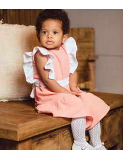 Marie delikatna sukienka dla dziewczynki z kokardką i falbanką