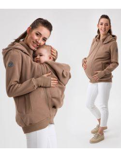 POLA- bluza ciążowa i do noszenia przód/ tył LATTE