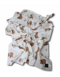 Otulacz bambusowy Bears - 100x120 cm