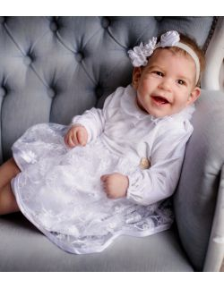 Kenzi elegancka sukienka dla dziewczynki na chrzest święty