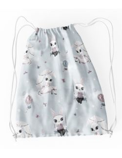 Worek- Plecak do przedszkola, na kapcie, buty - Bunny moon