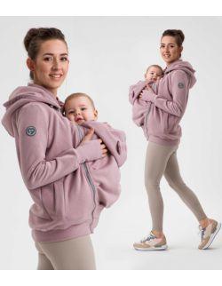 POLA- bluza ciążowa i do noszenia przód/ tył DIRTY PINK