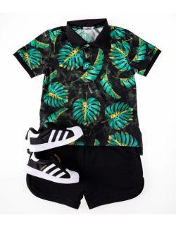 Komplet Aloha: koszulka polo i krótkie spodenki