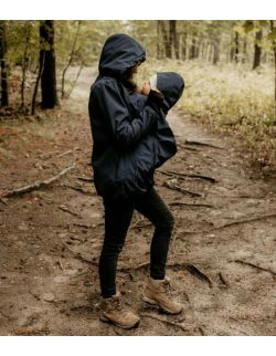 EVEREST Kurtka softshell ciążowa oraz do noszenia dziecka - granat
