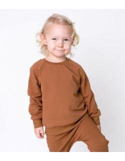 bluza dresowa karmelowa