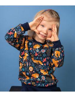 bluza dresowa rudy lisek