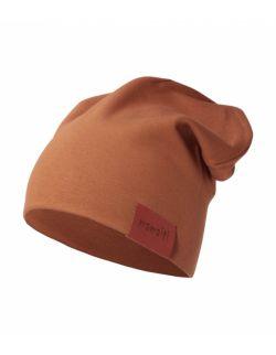 czapka podwójna karmelowa