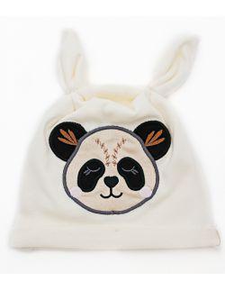 czapka Panda- kolor kremowy