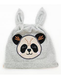 Czapka Panda - kolor szary melanż