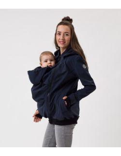 Kurtka softshell ciążowa oraz do noszenia dziecka NP17 - granat