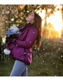 ENIGMA- Kurtka softshell ciążowa do noszenia dziecka