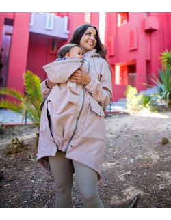 Kurtka parka softshell ciążowa do noszenia dziecka
