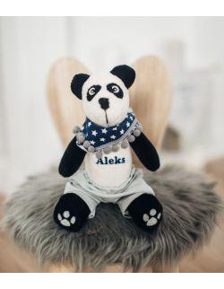 panda z imieniem chłopca